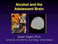 Alcohol and the Adolescent Brain Alcohol and the Adolescent Brain