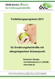 DAAB-Fortbildungen 2013 - Deutscher Allergie