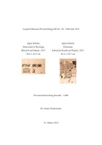 Egon Schiele, Hauswand in Brixlegg und Packraum