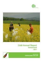 CABI Annual Report - Switzerland