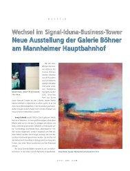 Neue Ausstellung der Galerie Böhner am Mannheimer ...