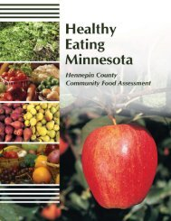 Healthy Eating MN Manual.indd - Hennepin County, Minnesota