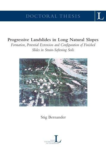 Progressive Landslides in Long Natural Slopes - Luleå tekniska ...