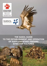 sasol guide to the establishment and operation - Endangered ...