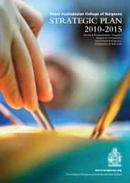Strategic Plan 2010-2015 - Royal Australasian College of Surgeons