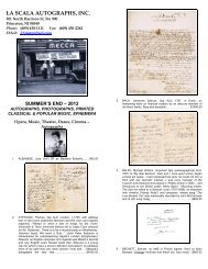 Musical Autographs And Manuscripts J J Lubrano Music