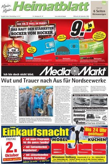 Wut und Trauer nach Aus für Nordseewerke - E-Paper - Emder Zeitung