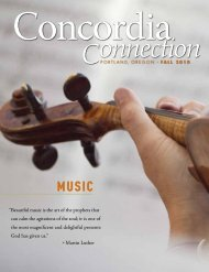Beautiful music is the art of the - Concordia University