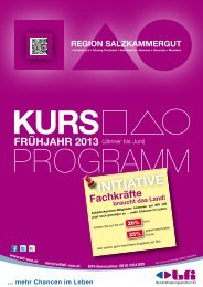 rEgION SaLzKaMMErgUT - BFI Oberösterreich