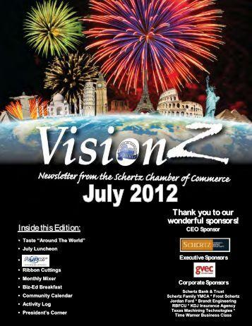 Newsletter July 2012 - Schertz Chamber of Commerce