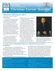 Christian Corner Gazette - Pine Village Continuing Care Retirement ...