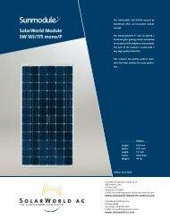 SolarWorld Module SW 165/175 mono/P - Suntrek Solar