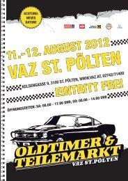 EINTRITT FREI 11.-12. AugusT 2012 - VAZ St. Pölten