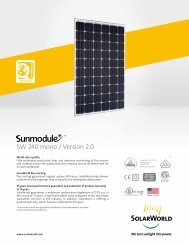 SolarWorld Sunmodule™ solar panel 240 watt mono ... - Power Up