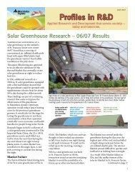 R&D Profiles: Solar Greenhouse Research - 06/07 ... - Build It Solar