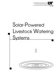 Solar-Powered Livestock Watering Systems - UT Extension - The ...