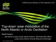 'Top-down' solar modulation of the North Atlantic or Arctic Oscillation