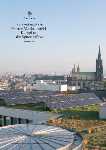 Solarwirtschaft: Hartes Marktumfeld – Kampf um die Spitzenplätze
