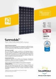 SW 230/235/240/245 mono - SolarWorld AG