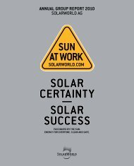 SolarWorld AG - Annual Report 2010