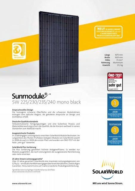 SW 225/230/235/240 mono black - Solar Partner