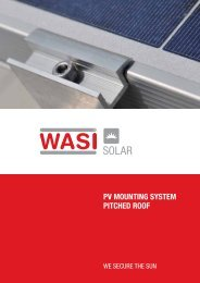 WASi SoLAr Pitched roof SySteM - wasi.de