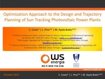 Optimization Approach to the Design and Trajectory Planning of Sun ...