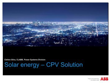 Solar energy – CPV Solution