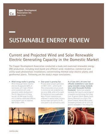 SuStAinAble eneRgy RevieW - Copper Development Association