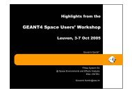 GEANT4 Space Users' Workshop - Geant4 @ IN2P3