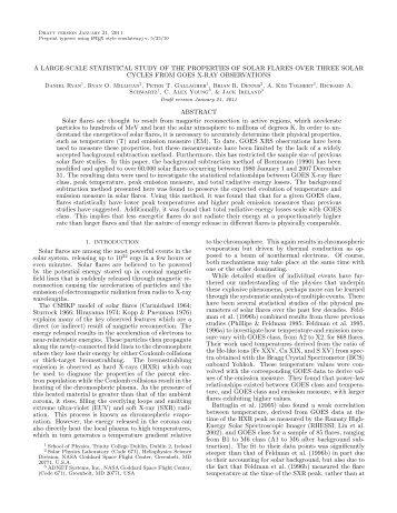 A LARGE-SCALE STATISTICAL STUDY OF THE ... - Rhessi - NASA