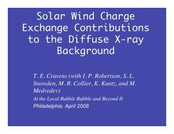 Solar Wind Charge Exchange Contributions to the Diffuse X-ray ...