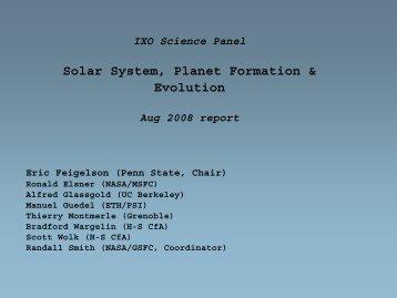 Solar System, Planet Formation & Evolution - Constellation X-ray ...