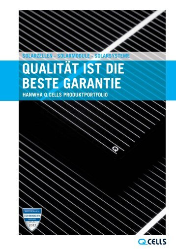 Der Q.CELLS Produktkatalog PDF-Download