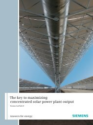 The key to maximizing concentrated solar power plant ... - Siemens
