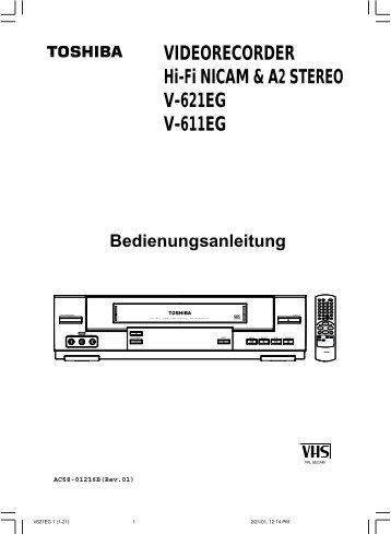 VIDEORECORDER Hi-Fi NICAM & A2 STEREO V-621EG V-611EG