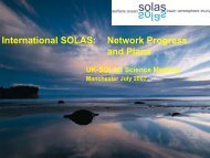 International SOLAS - Natural Environment Research Council