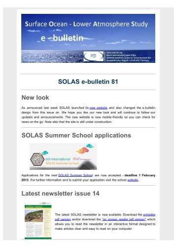 latest e-bulletin - solas
