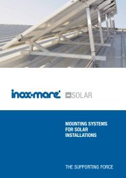 mounting systems for solar installations - Inox Mare Hellas
