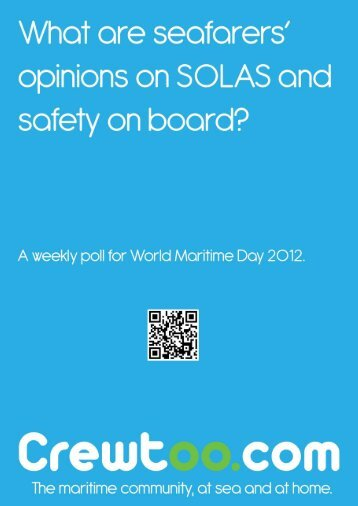 World Maritime Day - Seafarers' opinions on SOLAS - Crewtoo