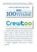 World Maritime Day - Seafarers' opinions on SOLAS - Crewtoo - Page 2