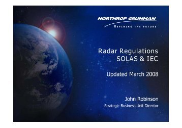 Radar Regulations SOLAS & IEC - STT - Marine Electronics