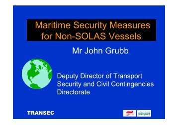 Maritime Security Measures for Non-SOLAS Vessels
