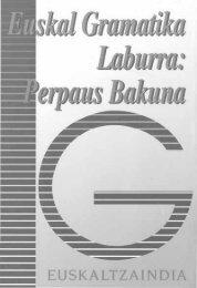 Euskal gramatika laburra - Euskaltzaindia