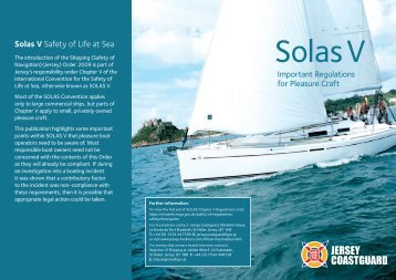 Download SOLAS V information leaflet - Port of Jersey