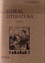 Euskal Literatura III