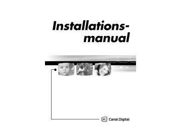 Installations- manual - Canal Digital