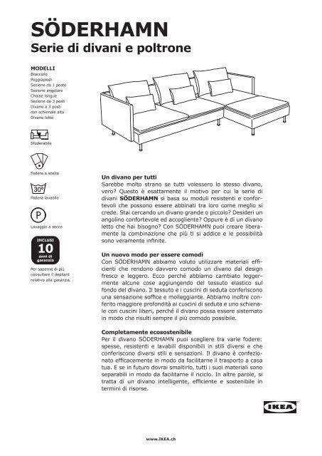 Ikea Poltrone Letto Un Posto.Soderhamn Serie Di Divani E Poltrone Pdf 0 73 Ikea