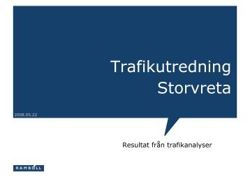 Trafikutredning Storvreta - Uppsala kommun