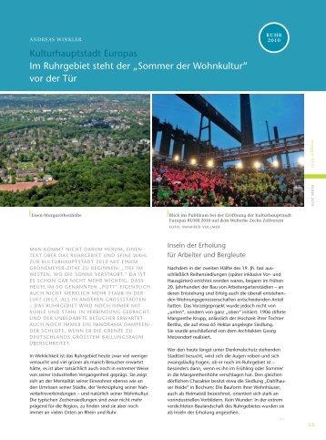 """Kulturhauptstadt Europas Im Ruhrgebiet steht der """"Sommer ... - vdw"""